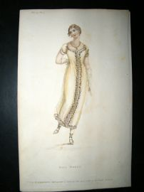 Ackermann 1811 Regency Fashion Print. Ball Dress